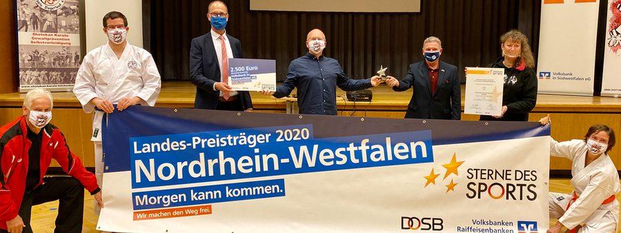 Stefan Klett und Andrea Milz bei der Verleihung mit dem Gewinnerverein