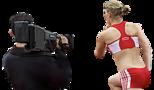 Videos aus der Welt des Sports: Kameramann filmt Läuferin