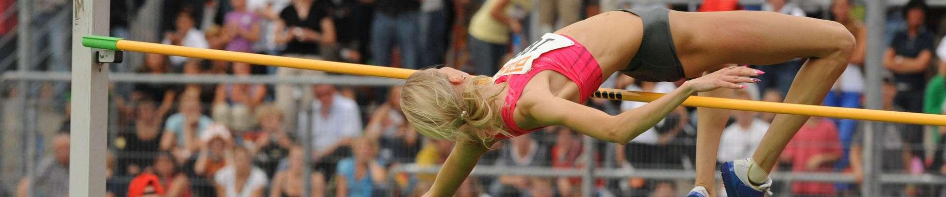 Teaser Projekte im Leistungssport: Frau beim Hochsprung