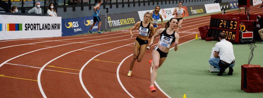 Sprinterinnen bei der Hallen-DM
