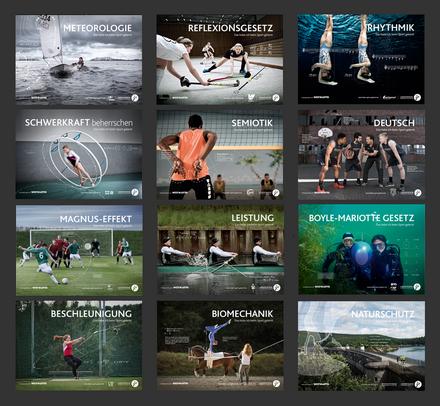 Zweite Bildmotivserie zur Kampagne Das habe ich beim Sport gelernt