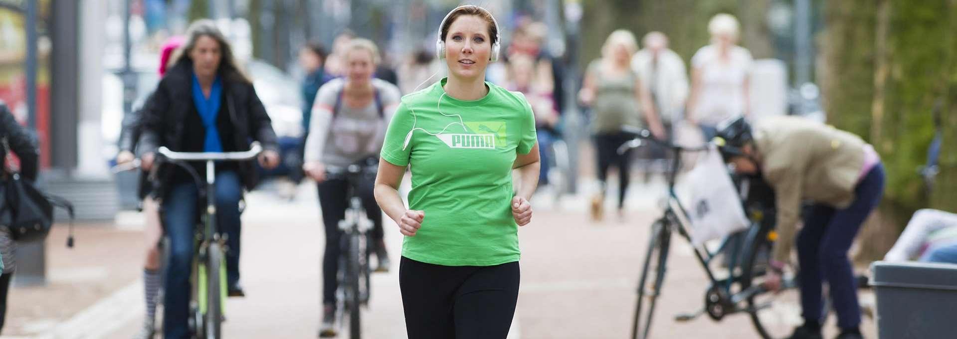 Footerbild Bewegt GESUND bleiben in NRW! Joggen in der City