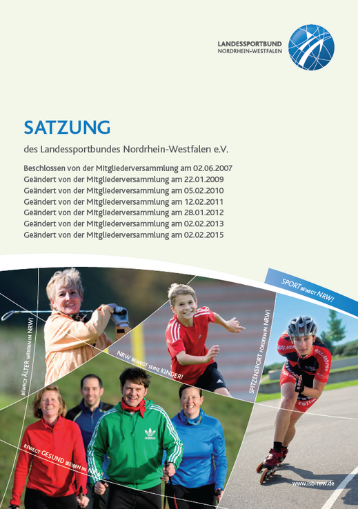 Cover Satzung des Landessportbundes NRW