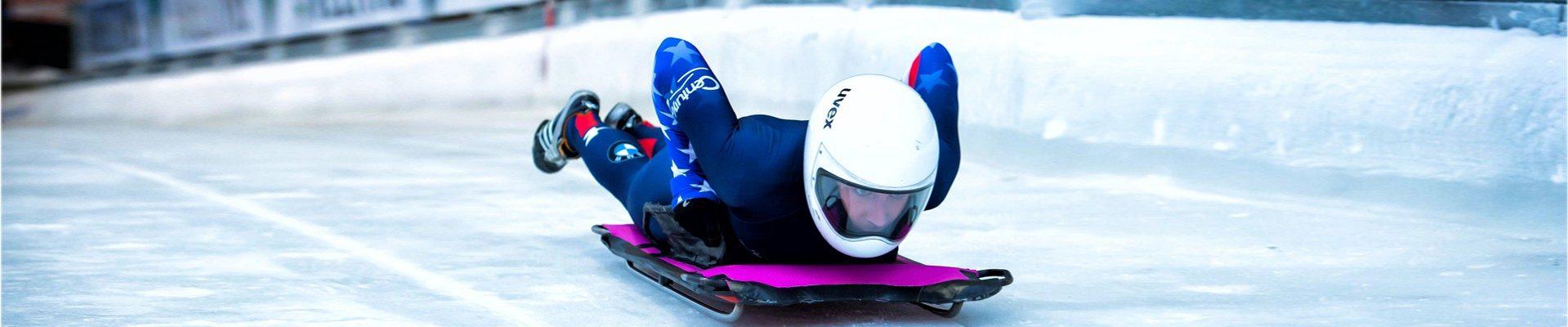 Skeletonfahrer im Eiskanal - SPITZENSPORT fördern in NRW!