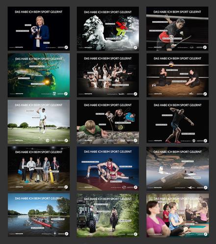 """3. Motivserie der Kampagne """"Das habe ich beim Sport gelernt"""""""
