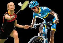 Bilddatenbank des LSB NRW: Badminton und Mountainbike