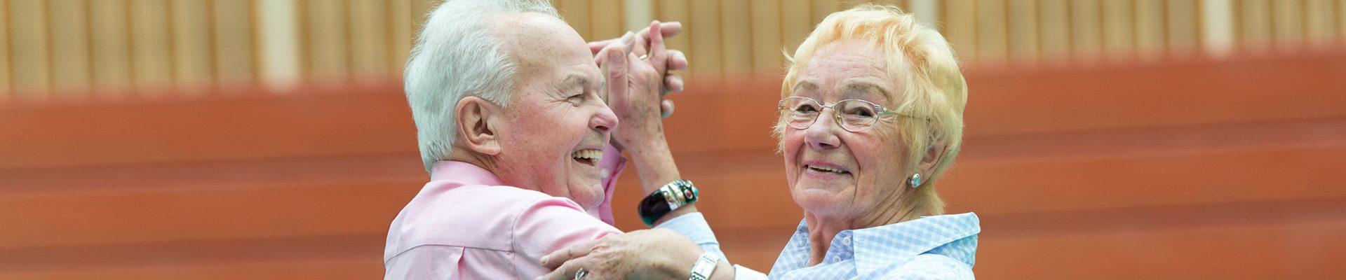 Bewegt ÄLTER werden in NRW! Seniorentanzpaar