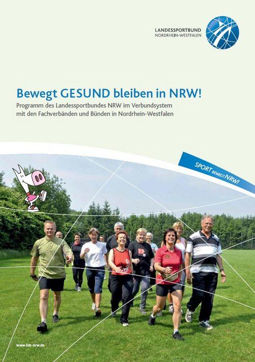 Cover Broschüre Bewegt GESUND bleiben in NRW!