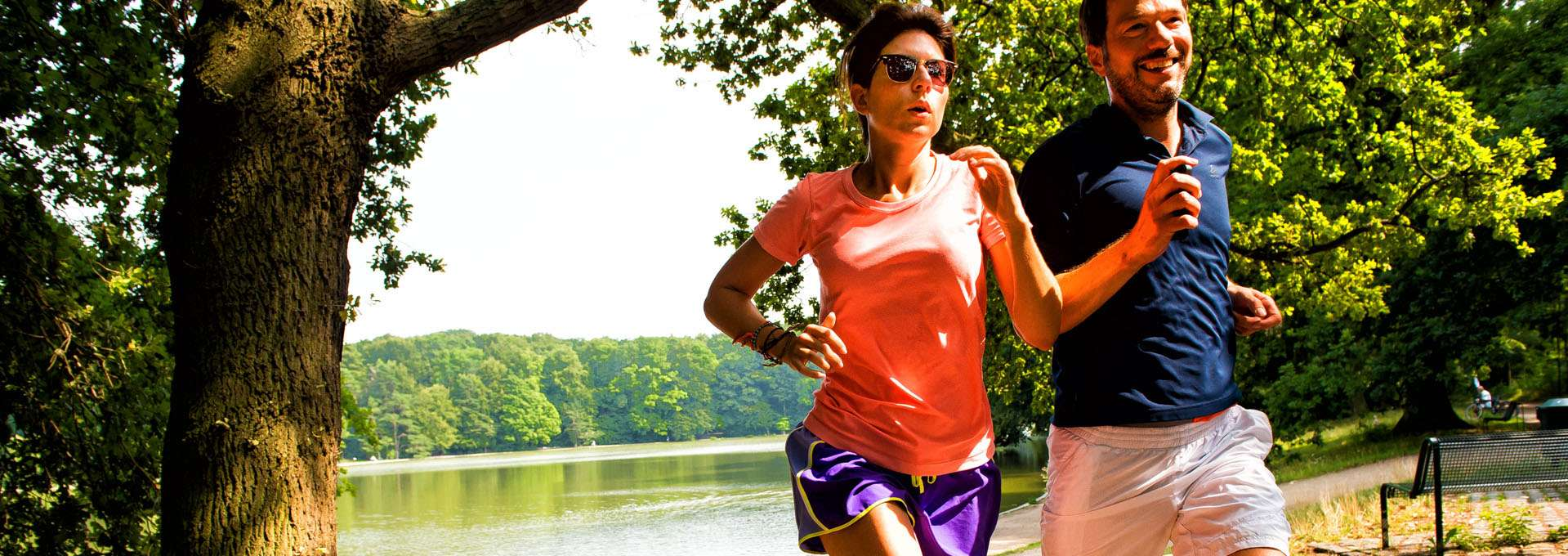 Headerbild Themen des Landessportbundes NRW: Joggen in freier Natur