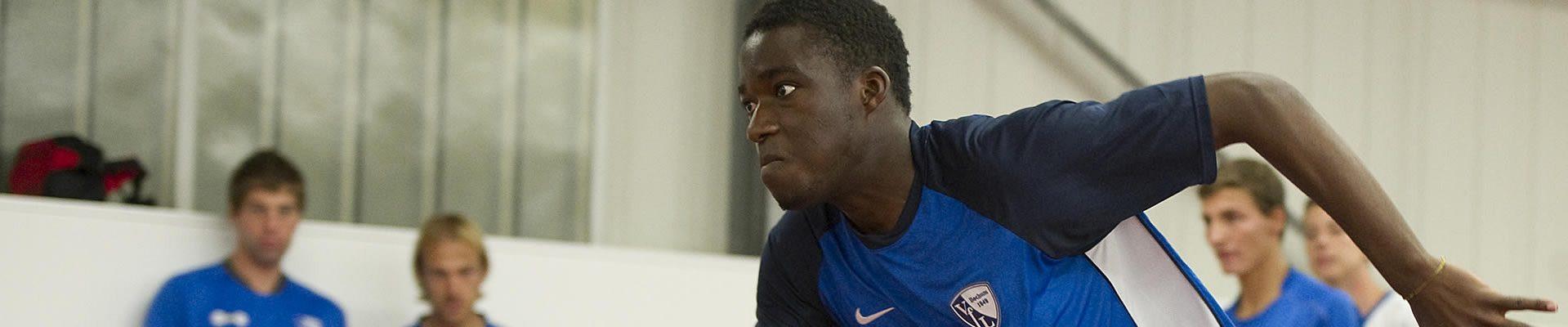 Sprinter beim Training in der Halle
