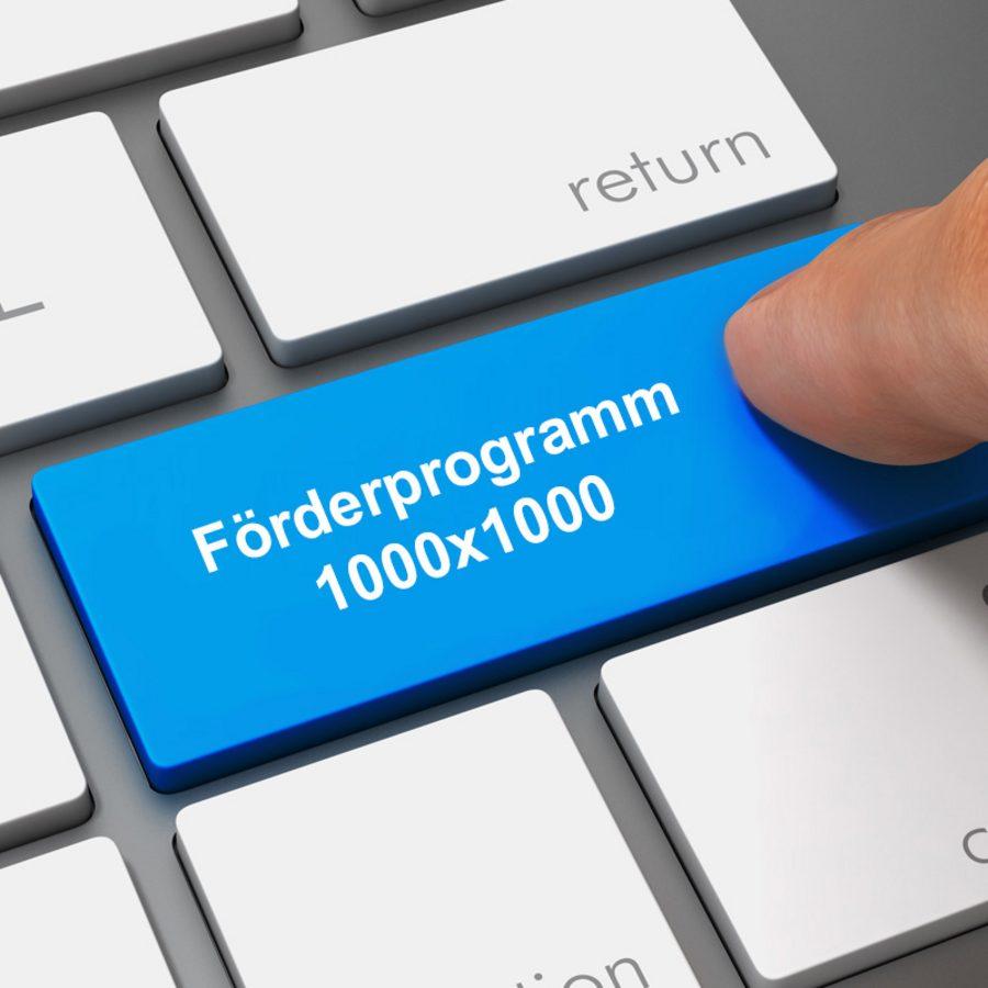 Antrag für das Landesprogramm 1000x1000 stellen