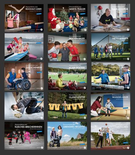 Vierte Bildmotivserie zur Kampagne Das habe ich beim Sport gelernt