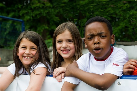 Kinder, die der Sport verbindet