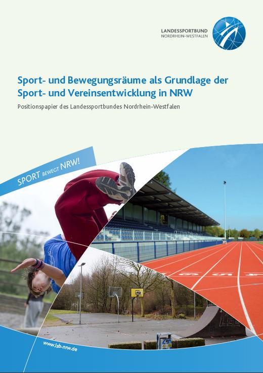 Titelseite der Broschüre Sport & Bewegungsräume