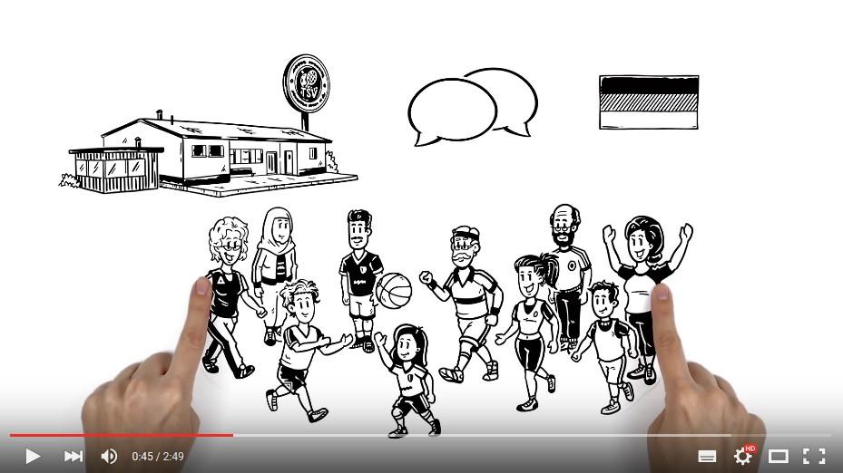 """Video """"Fachkräfte für Integration und Sport"""""""